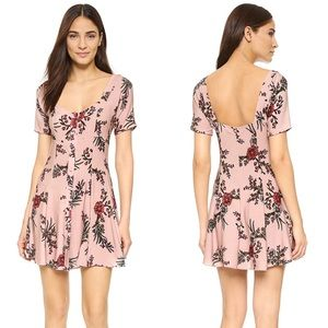 Flynn Skye Nyla Pink Floral Mini Dress Small